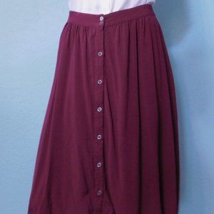 Wine Colored Knee length skirt
